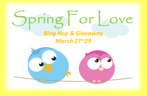 Spring For Love blog hop button